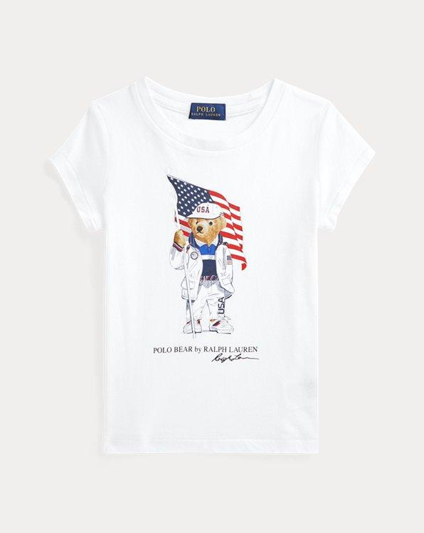 Team USA Polo Bear Cotton Jersey Tee