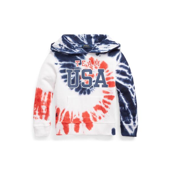 Polo Ralph Lauren Kids' Team Usa Tie-dye Terry Hoodie In Multi