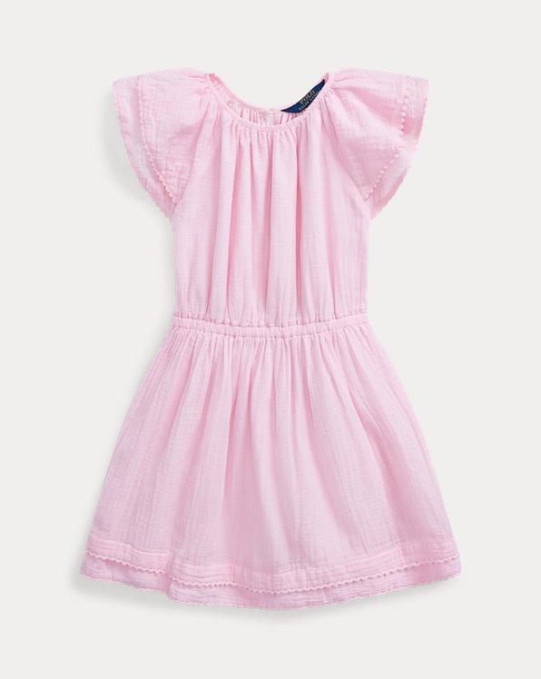 Pom-Pom Cotton Dress