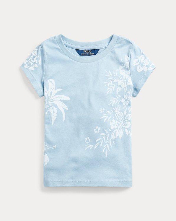 Hawaiian-Print Jersey Tee