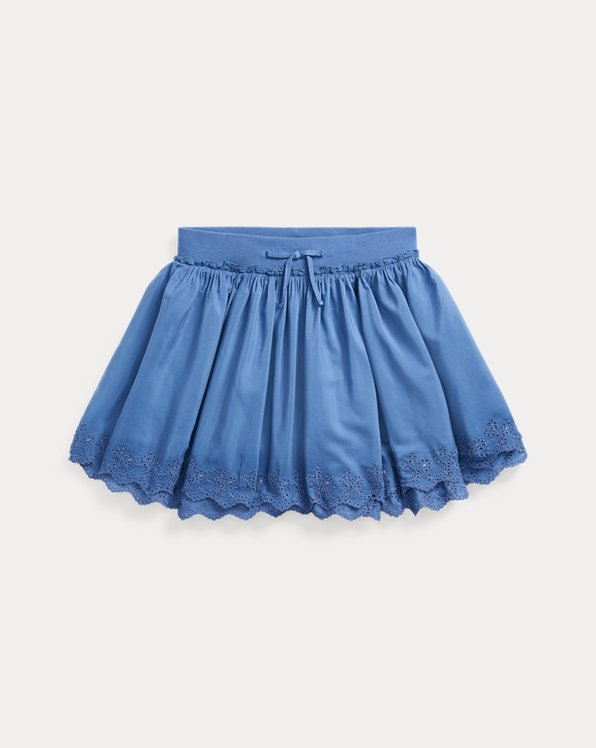 Eyelet Cotton Scooter Skirt
