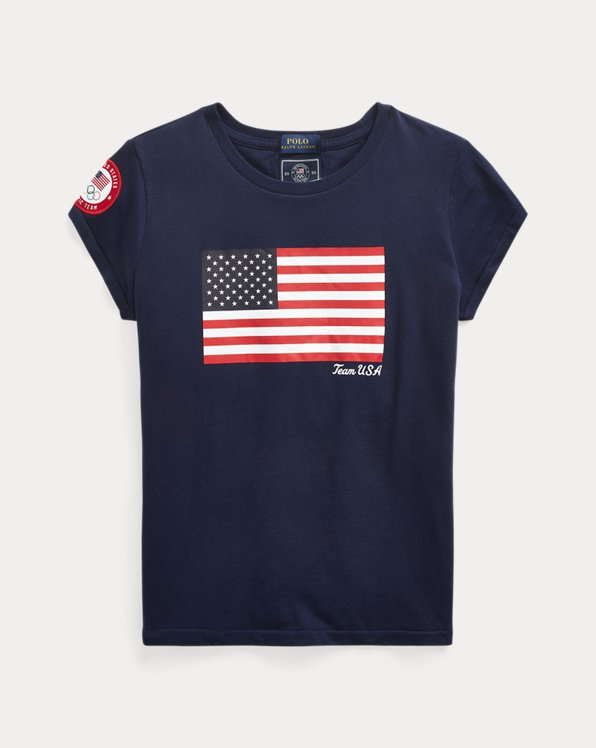 Team USA One-Year-Out Cotton Flag Tee