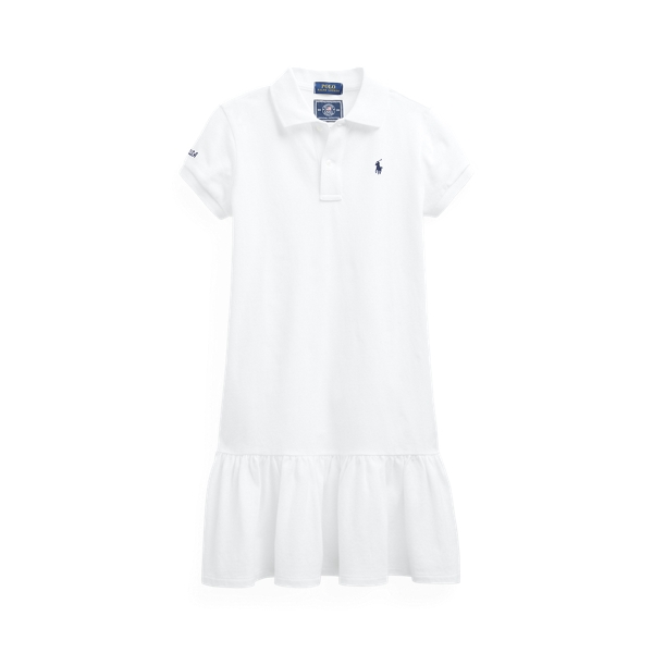 Polo Ralph Lauren Kids' Team Usa Mesh Polo Dress In White