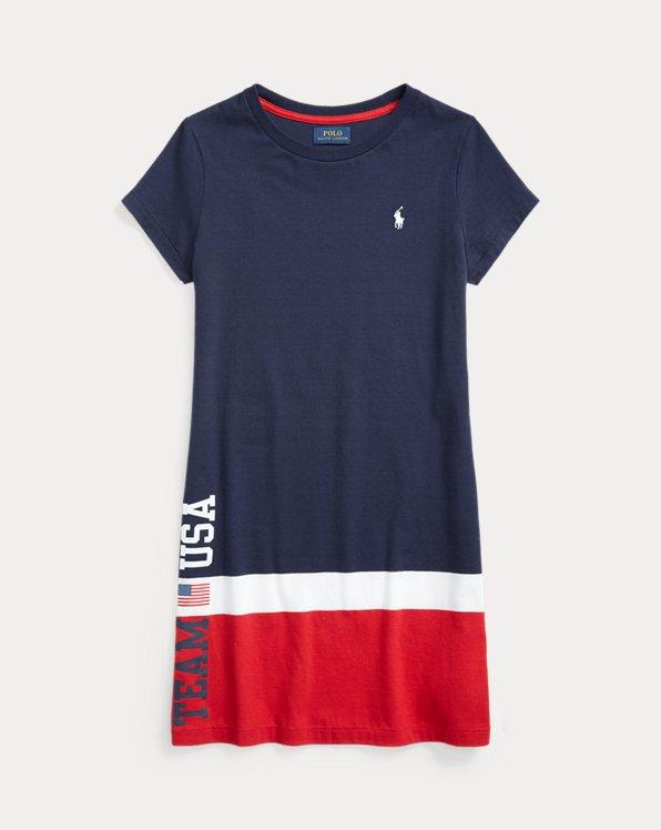 Team USA Cotton Jersey Tee Dress