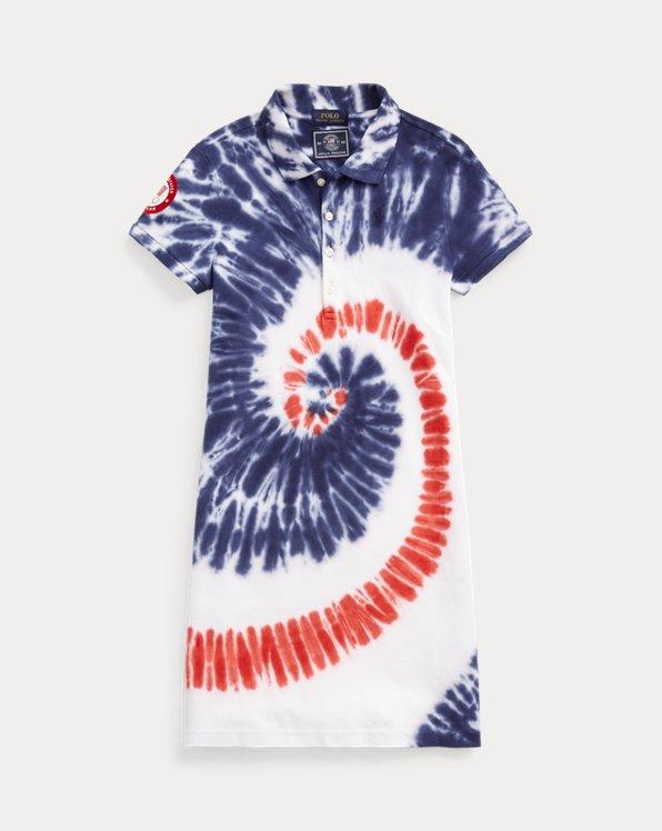 Team USA Tie-Dye Mesh Polo Dress