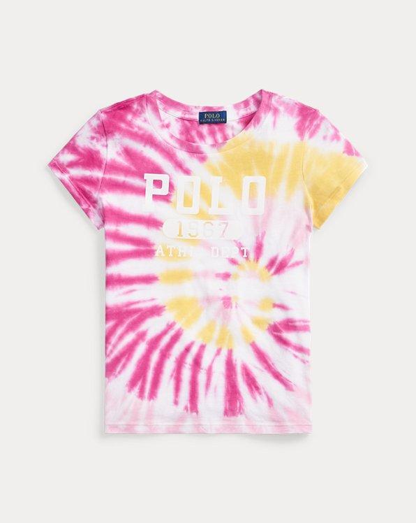 T-shirt graphique en coton tie-dye