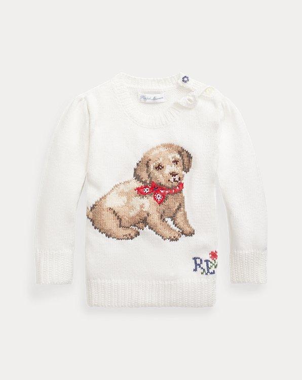 Pull en coton motif chiot