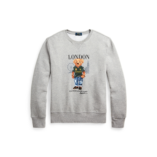 폴로 랄프로렌 Polo Ralph Lauren London Bear Fleece Sweatshirt,Andvr Hthr - Ldn