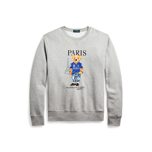 폴로 랄프로렌 Polo Ralph Lauren Paris Bear Fleece Sweatshirt,Andvr Hthr - Ldn