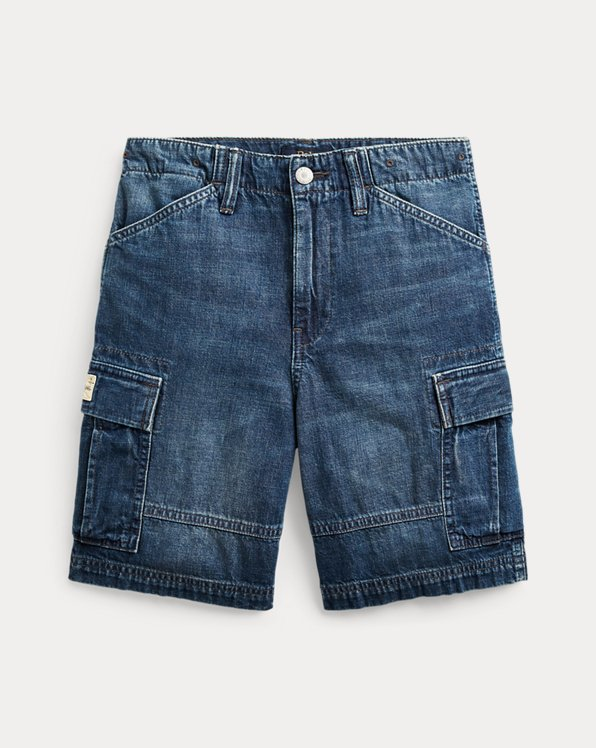 폴로 랄프로렌 보이즈 반바지 Polo Ralph Lauren Denim Cargo Short,Beechwood Wash