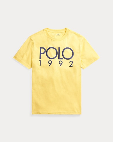 폴로 랄프로렌 보이즈 티셔츠 Polo Ralph Lauren Cotton Jersey Graphic Tee,Fall Yellow