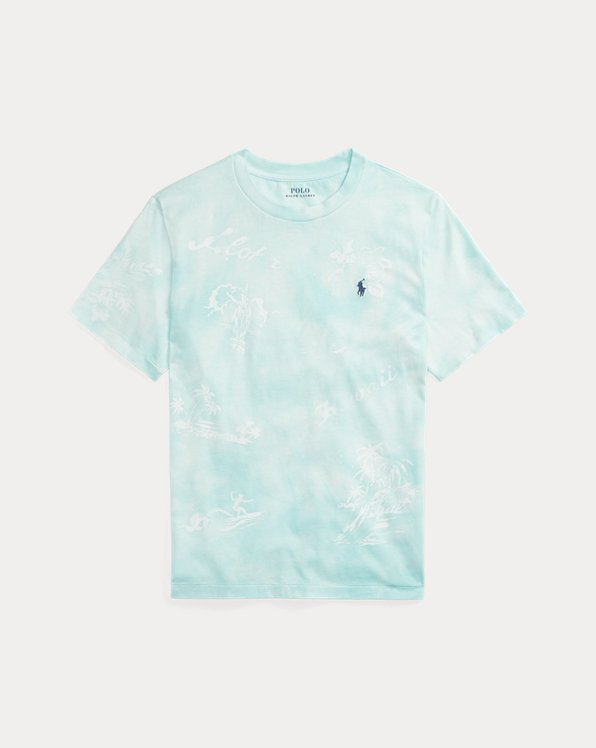 Hawaiian-Print Cotton Jersey Tee