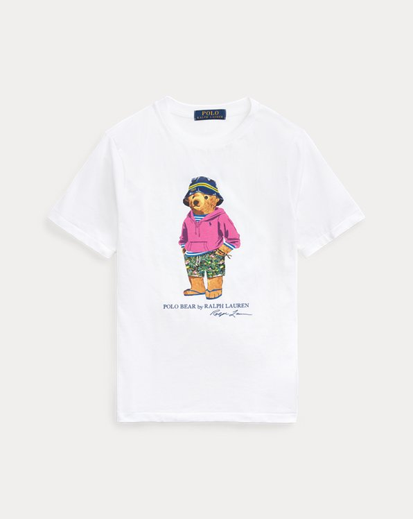 Jersey-T-Shirt mit Beach Bear