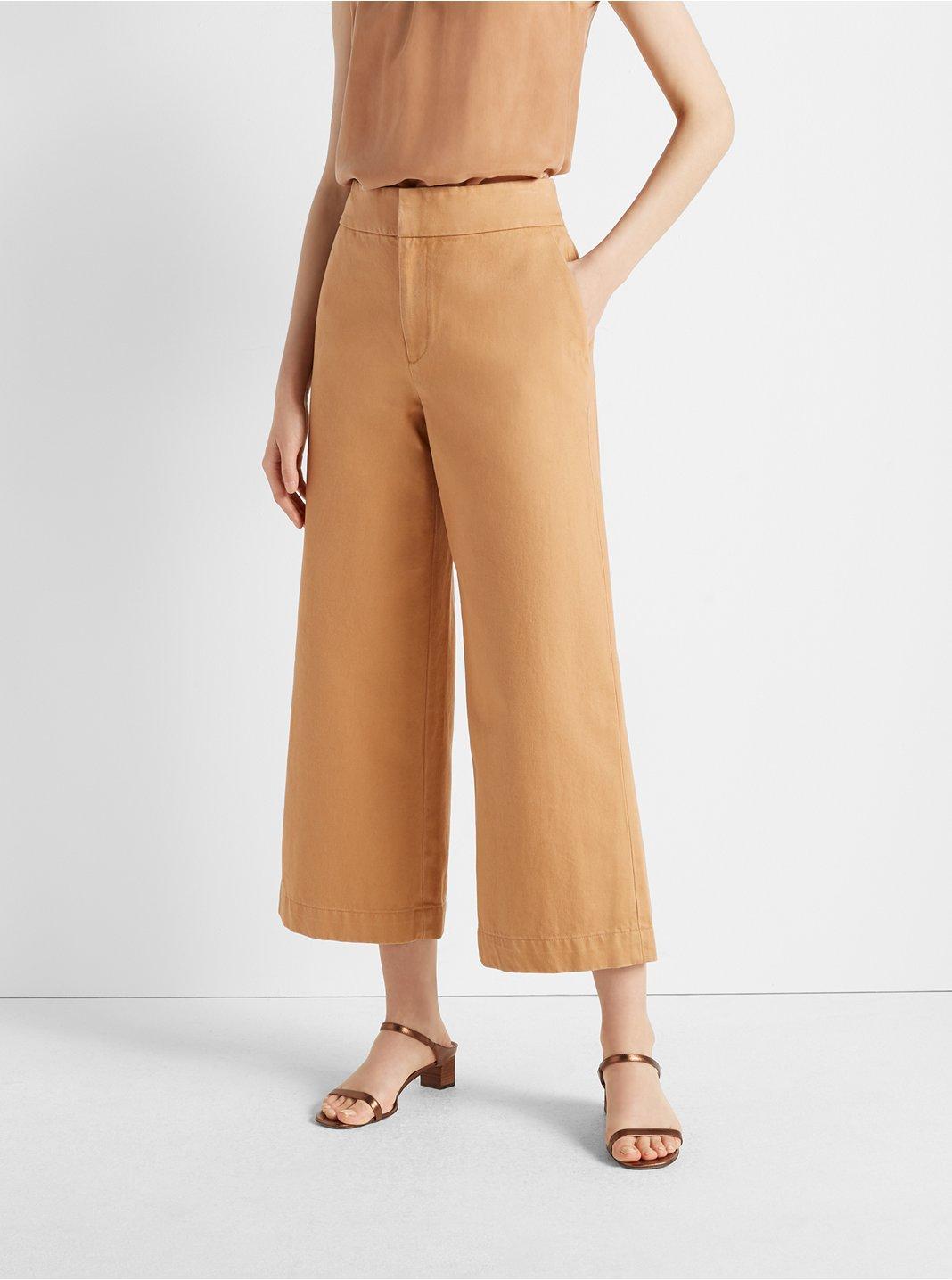 Wide Leg Jean Trousers