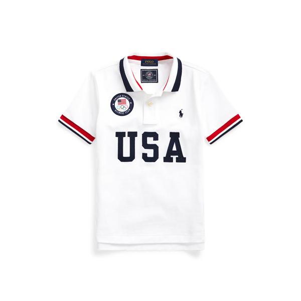 폴로 랄프로렌 남아용 폴로 셔츠 Polo Ralph Lauren Team USA One-Year-Out Polo Shirt,White