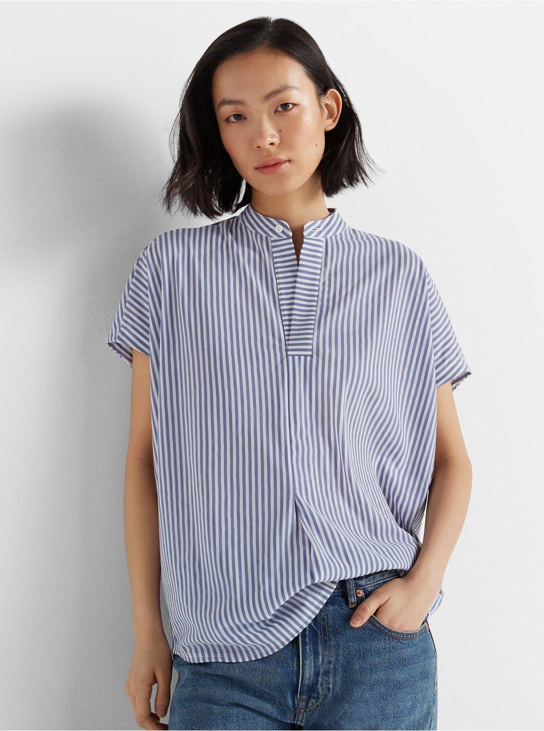 클럽 모나코 탑 Club Monaco Jandina Knit Top,Blue/White Stripe