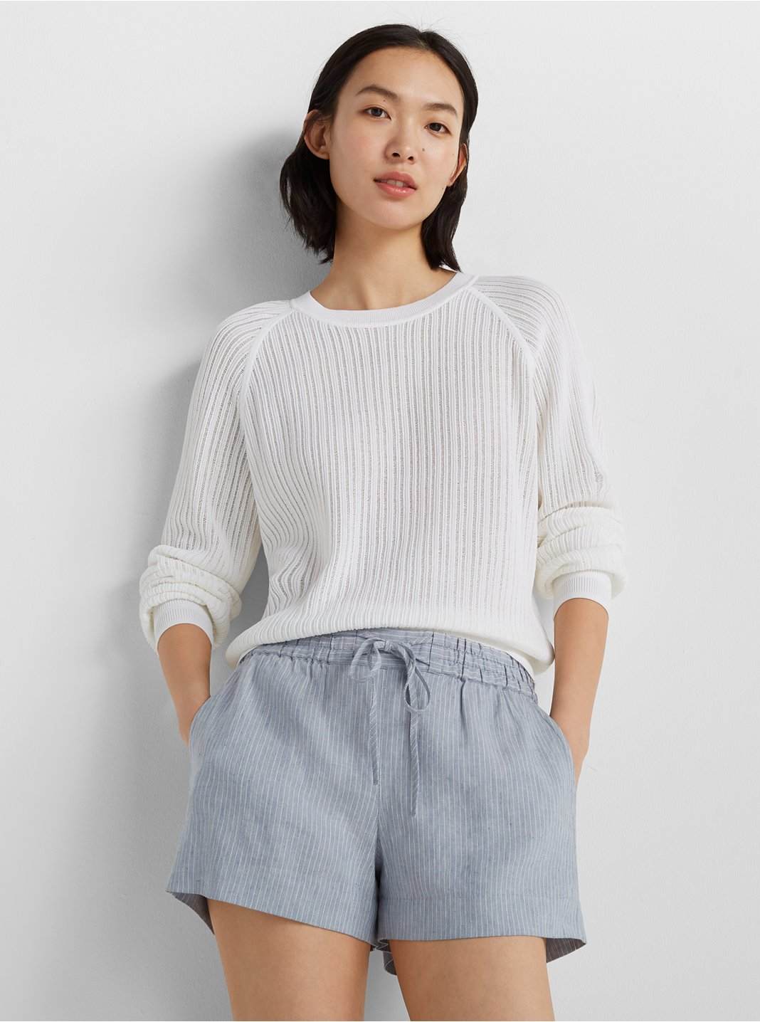 Open Stitch Sweatshirt