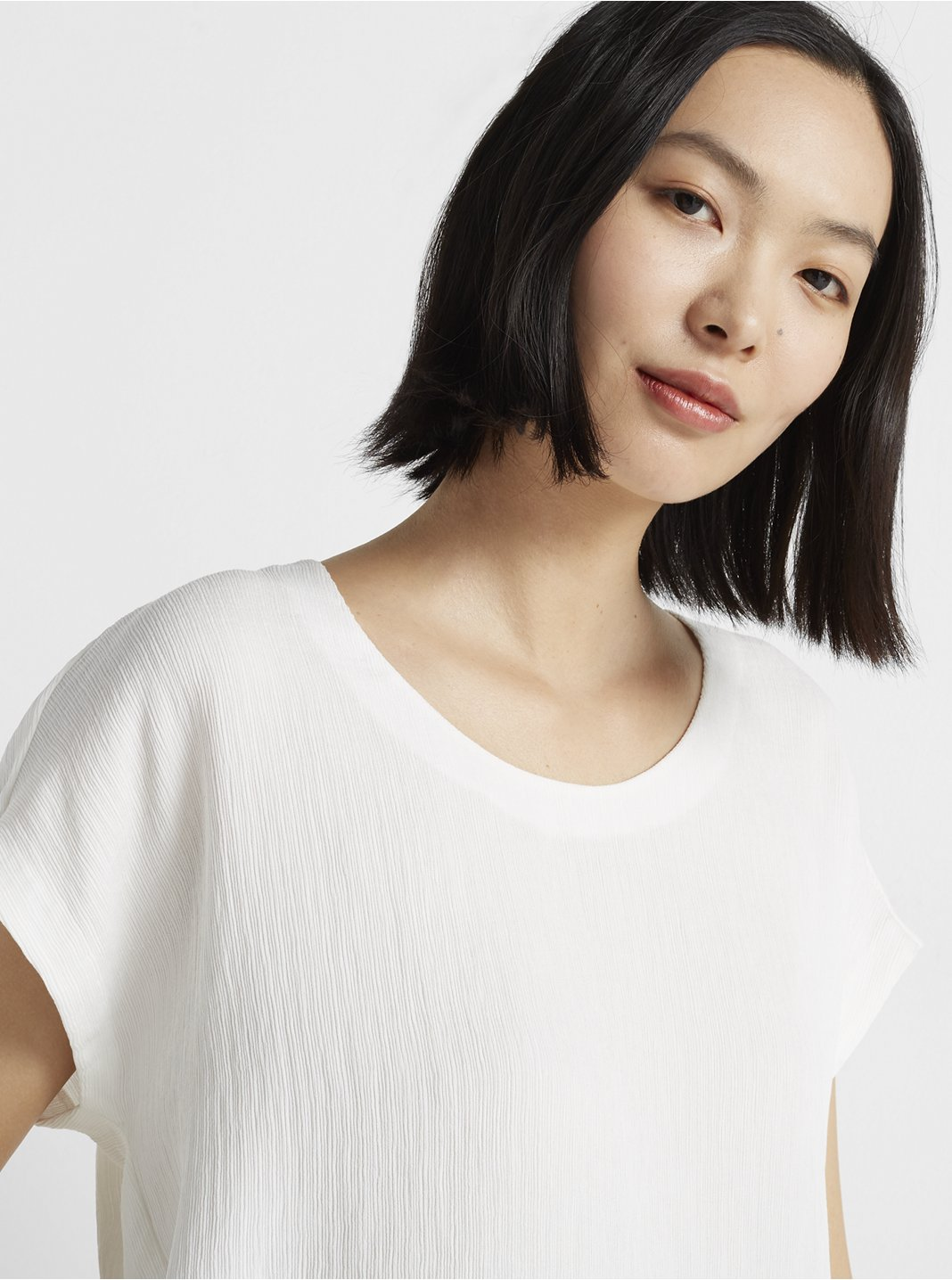 Textured Scoop Neck Top