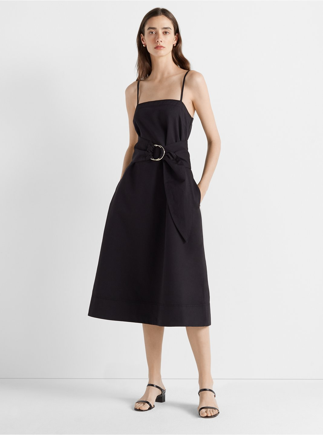 Belted A-Line Dress