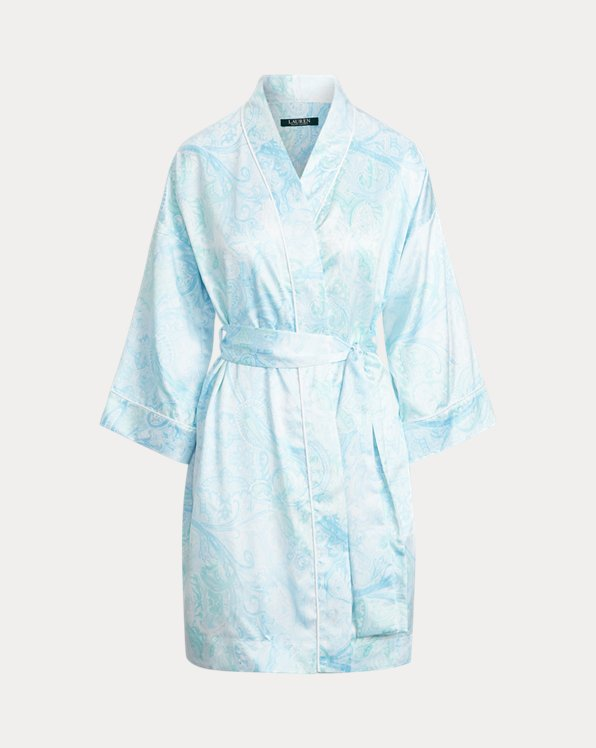 Paisley Satin Robe