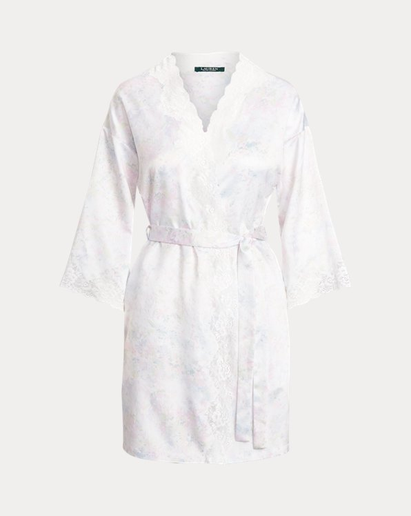 Floral Lace-Trimmed Robe