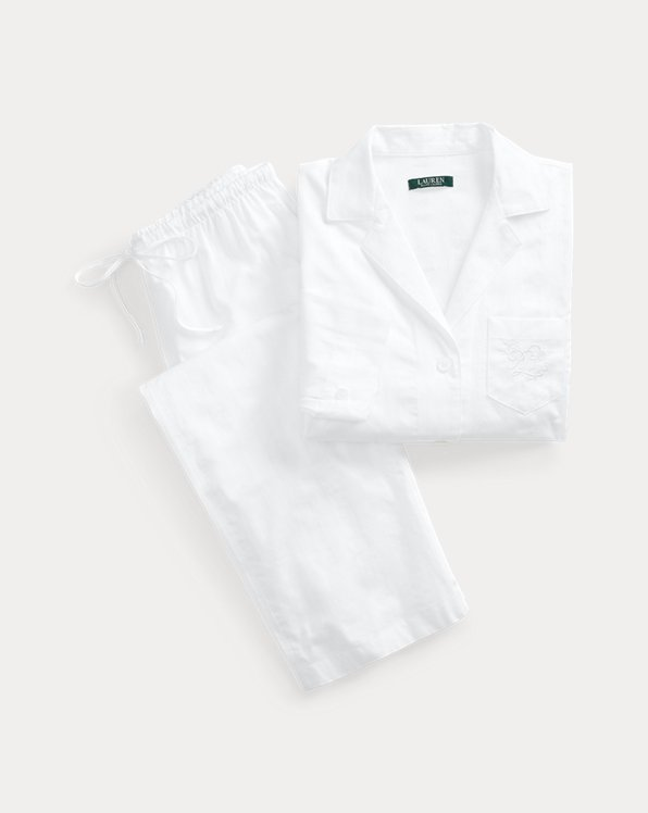 Cropped Cotton Sleep Set