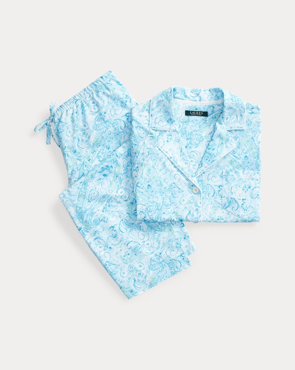 Print Cotton Capri Sleep Set