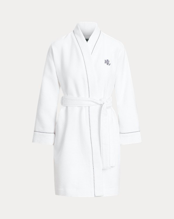 Waffle-Knit Terry Cloth Robe