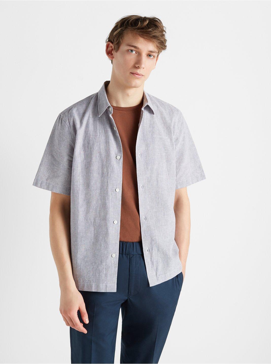 Short Sleeve Chambray Stripe