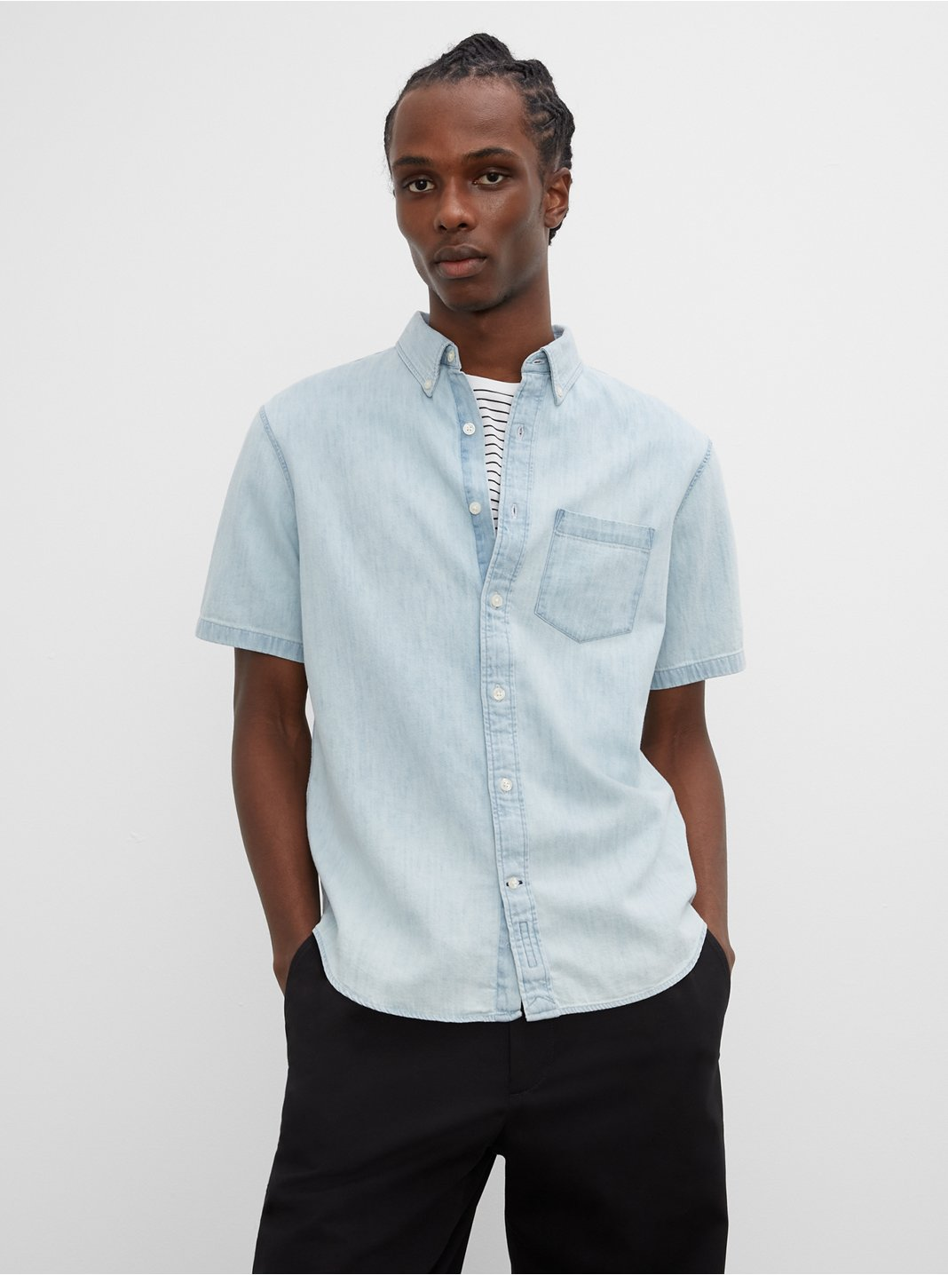 Short Sleeve Jean Shirt