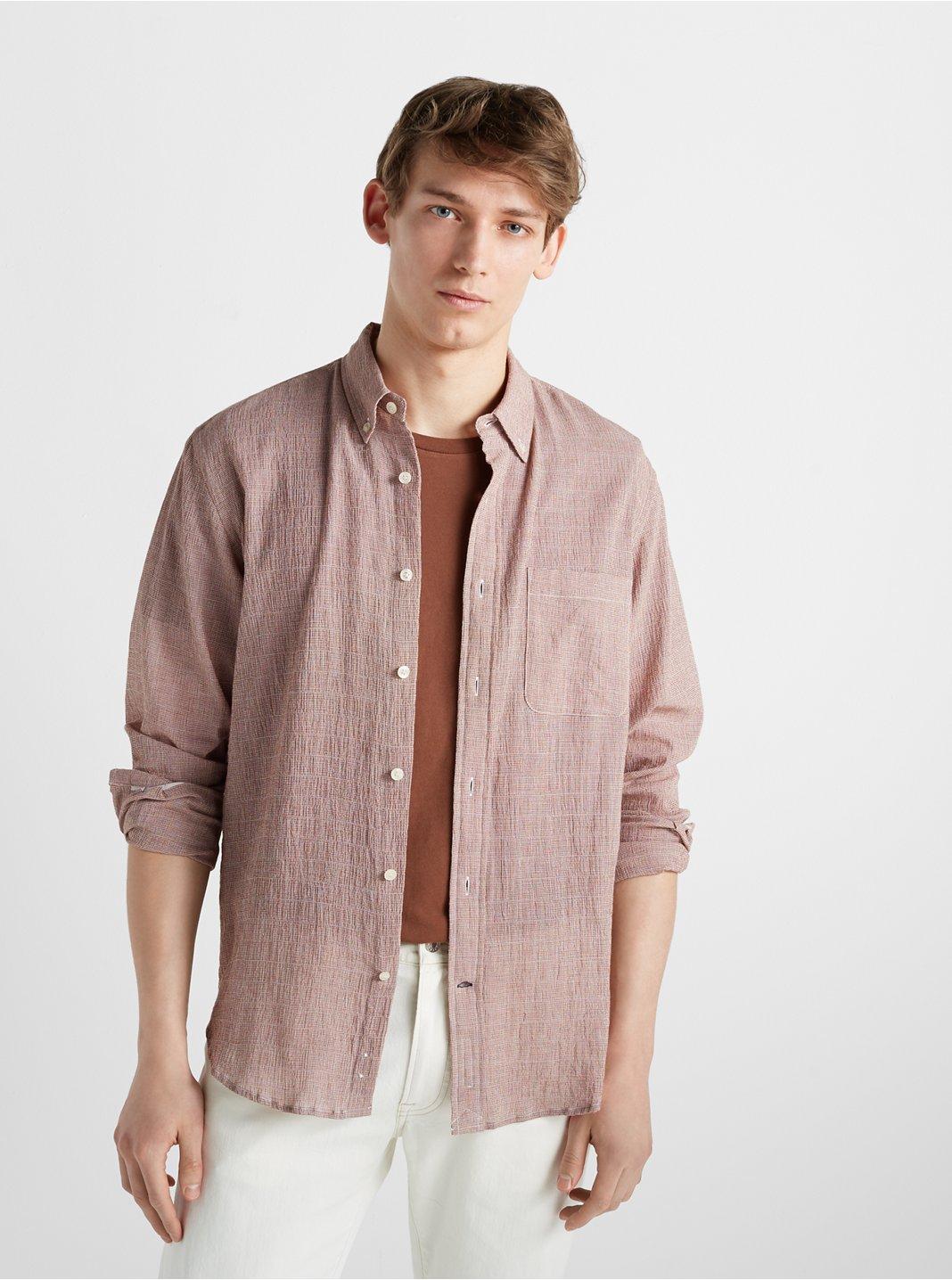 Slim Mini Houndstooth Shirt