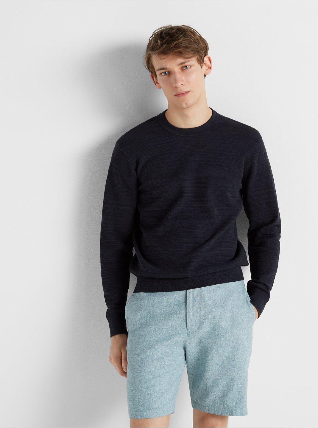 클럽 모나코 Club Monaco Club Slub Sweater,Navy