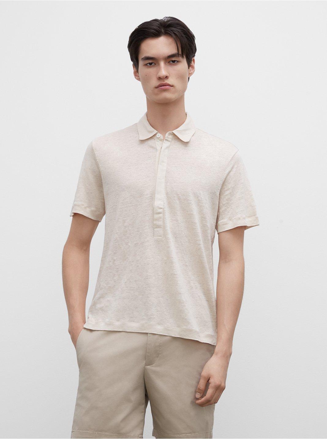 Short Sleeve Linen Popover