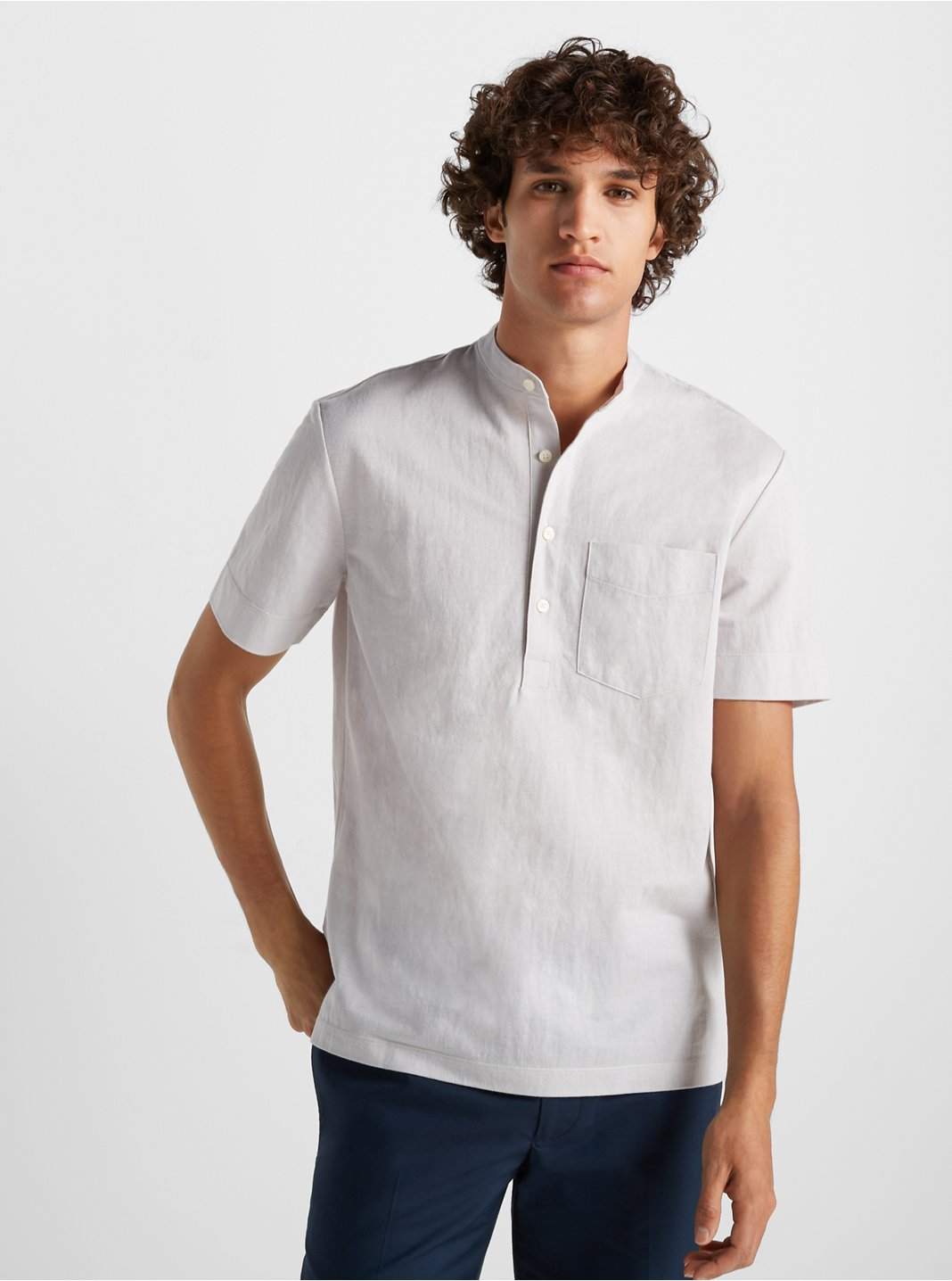 Short Sleeve Knit Popover