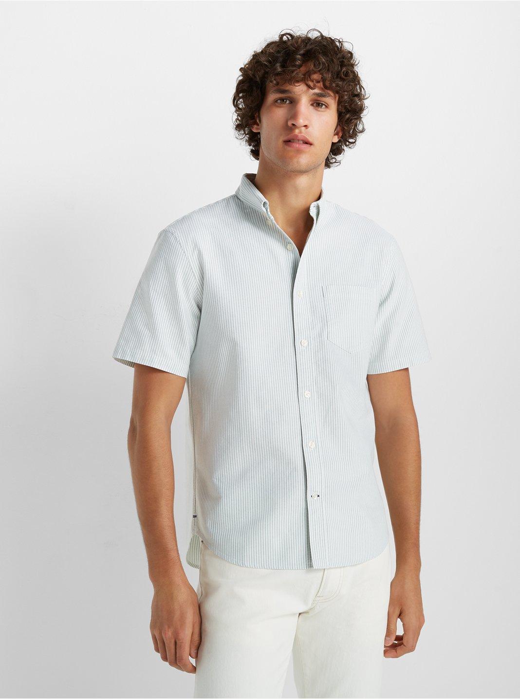 Short Sleeve Stripe Oxford