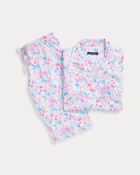 Floral Cotton Bermuda PJ Set