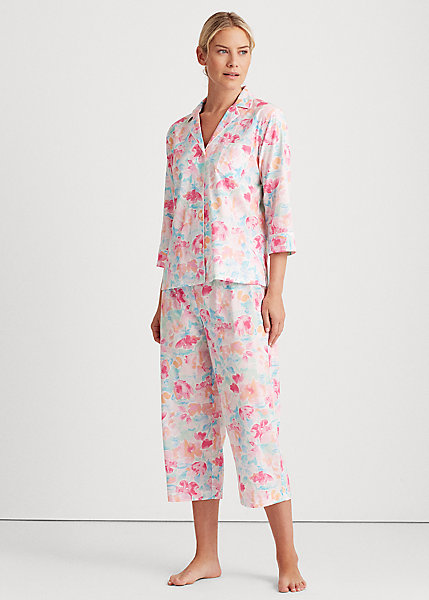 Polo RalphLauren Printed Cotton-Blend Sleep Set
