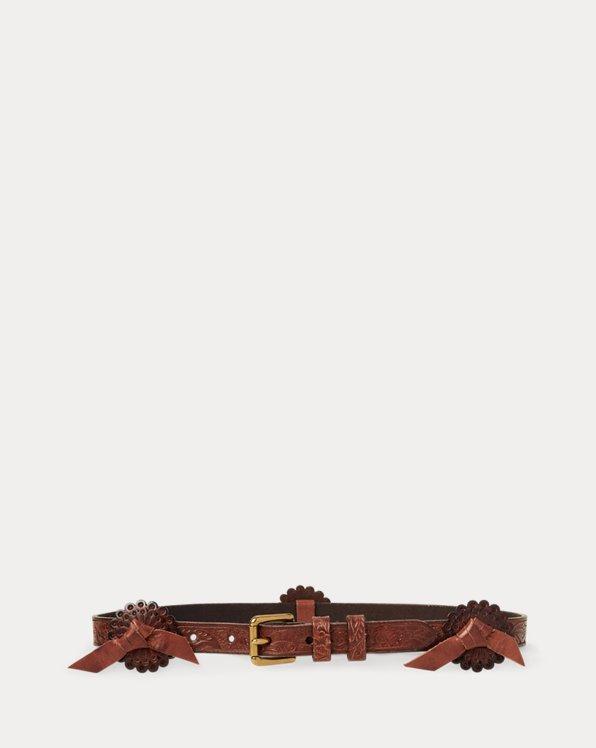 Cinturón western de piel