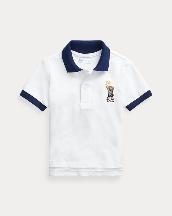Sparkler Bear Cotton Mesh Polo