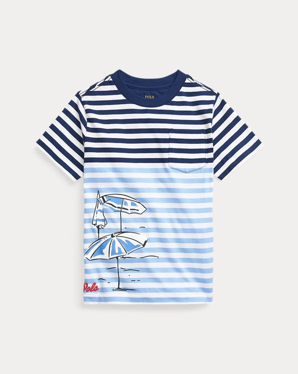 Gestreiftes T-Shirt aus Baumwolljersey