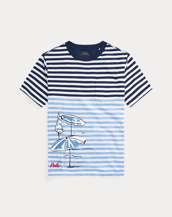 Striped Cotton Jersey Tee