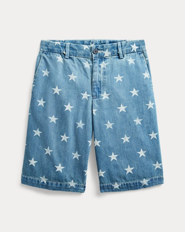 Short en denim à étoiles