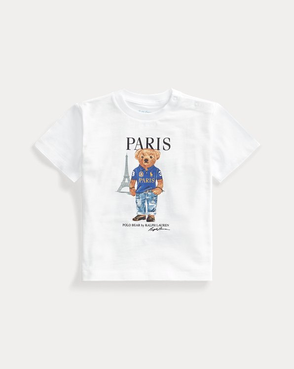 Paris Bear Cotton Jersey Tee