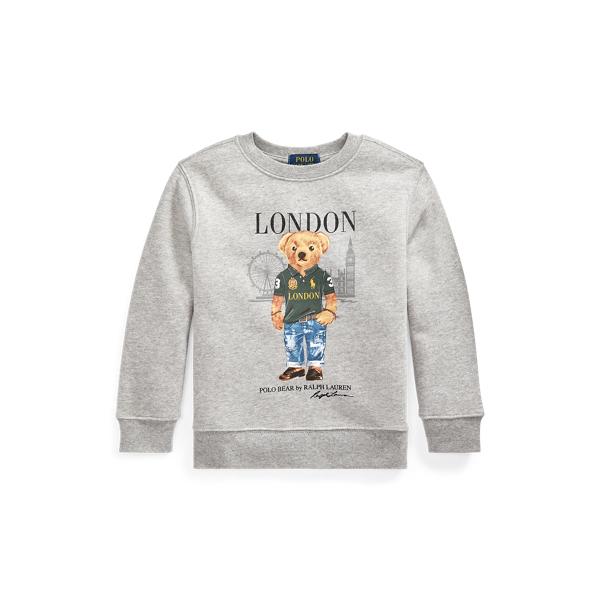 폴로 랄프로렌 Polo Ralph Lauren London Bear Fleece Sweatshirt,Andover Heather