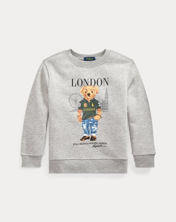 Fleece-Sweatshirt mit London Bear