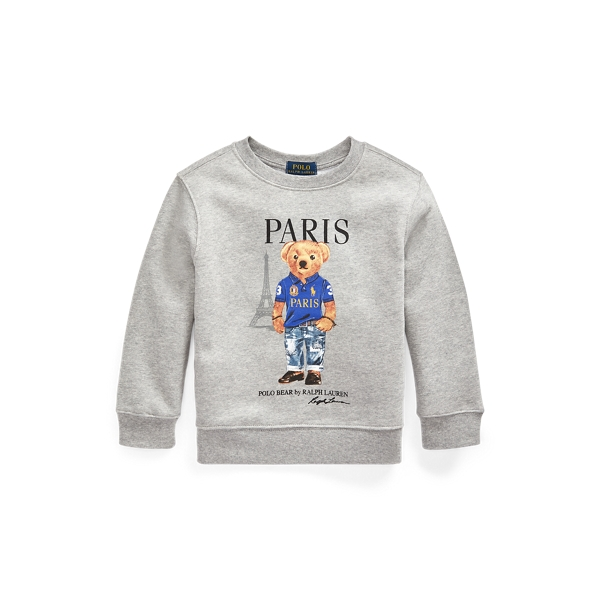폴로 랄프로렌 Polo Ralph Lauren Paris Bear Fleece Sweatshirt,Andover Heather