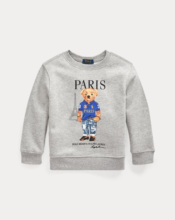 Paris Bear Fleece Sweatshirt