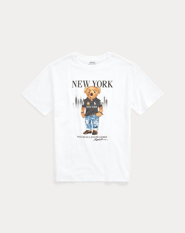Baumwoll-T-Shirt mit New York Bear