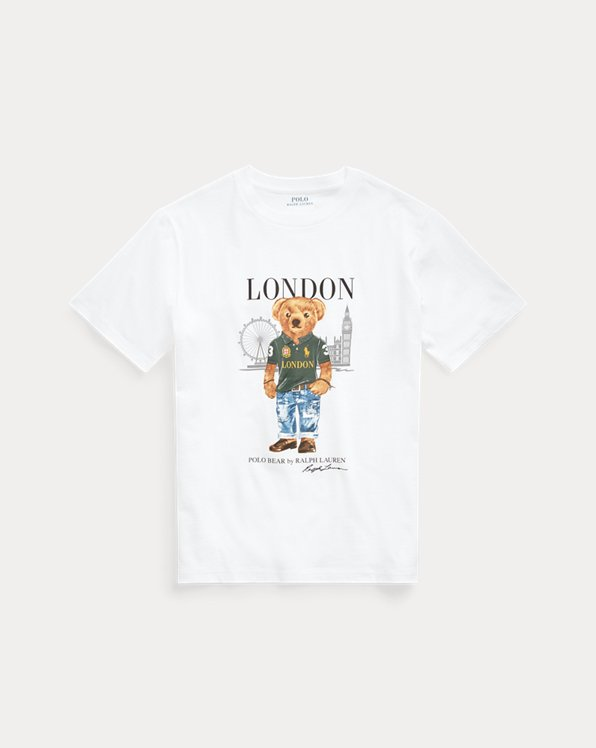 Jersey-T-Shirt mit London Bear