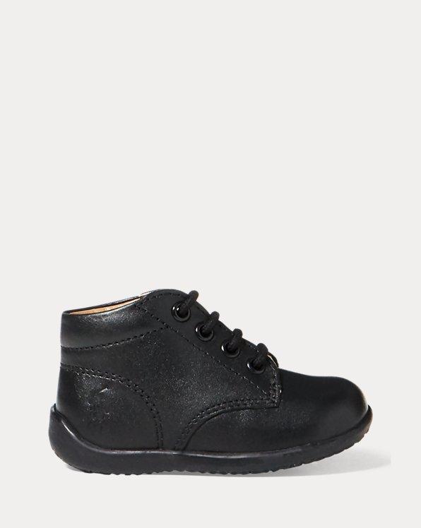 Halbhoher Leder-Sneaker
